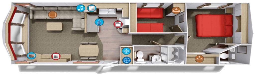 Willerby Sierra 2017 holiday home floorplan