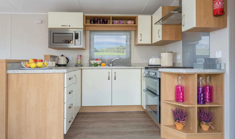 Willerby Sierra 2017 holiday home kitchen
