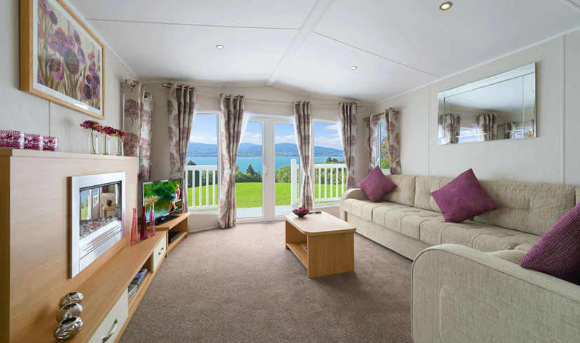 Willerby Sierra 2017 holiday home lounge