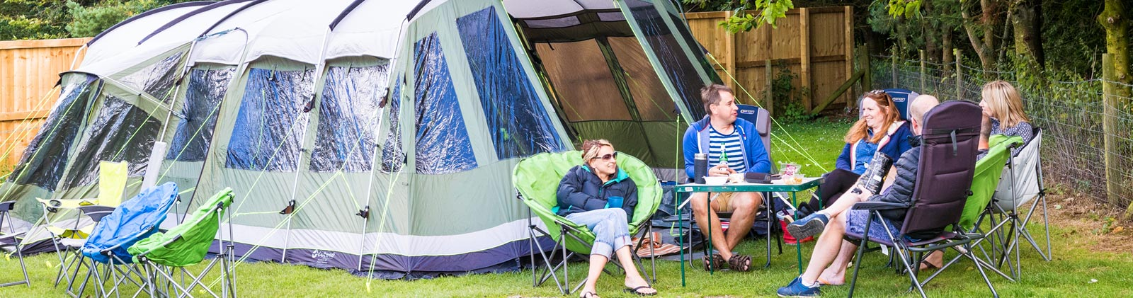 Camping at Golden Square camp site in North Yorkshire