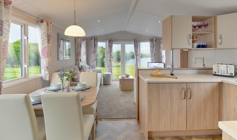 Interior of Willerby Brockenhurst Caravan for sale at Golden Square, North Yorkshire