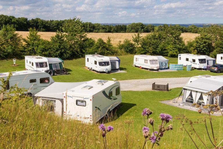 Golden Square touring caravan park pitches