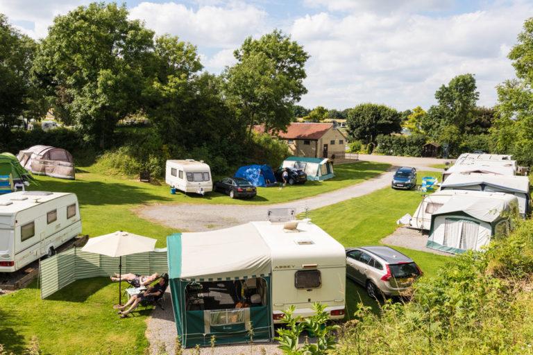 private touring caravan pitches at Golden Square Caravan Park