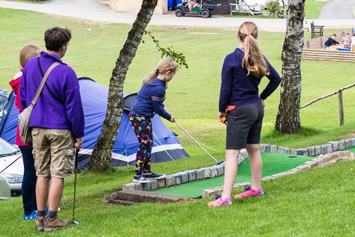 mini golf camp facilities at Golden Square Caravan Park