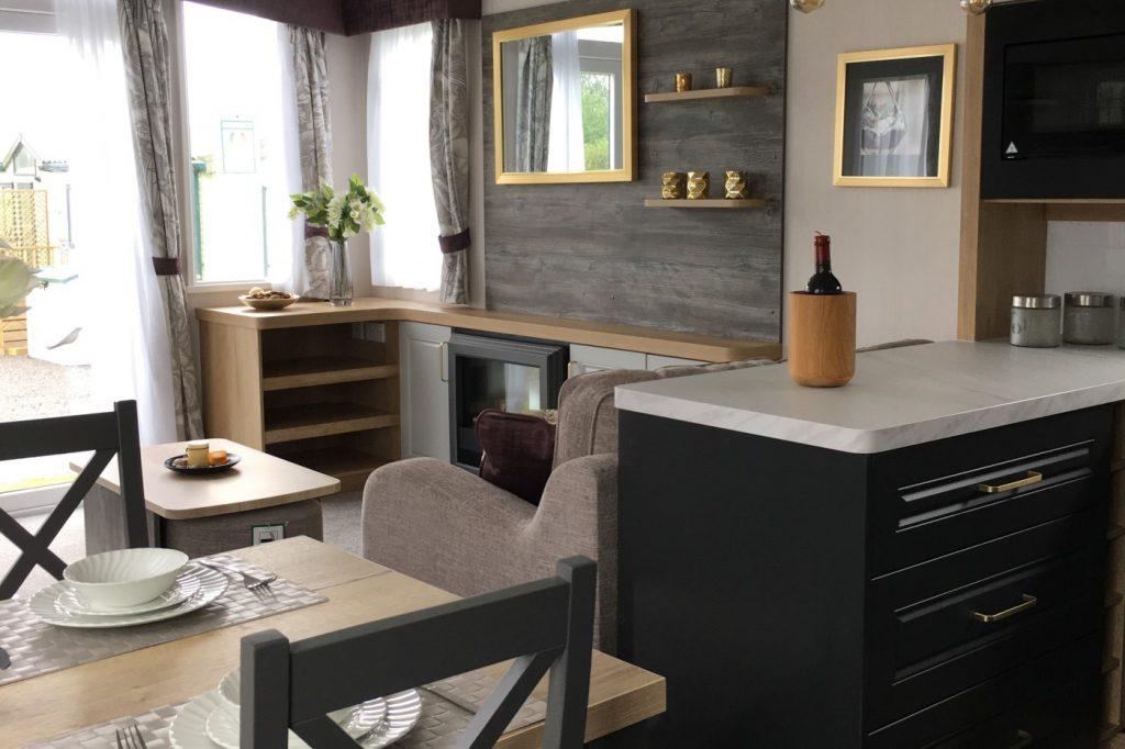 living space in the Swift Bordeaux 2020 holiday home