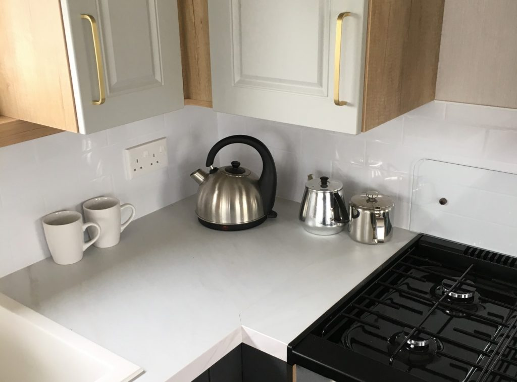 kitchen area in the Swift Bordeaux 2020 holiday home