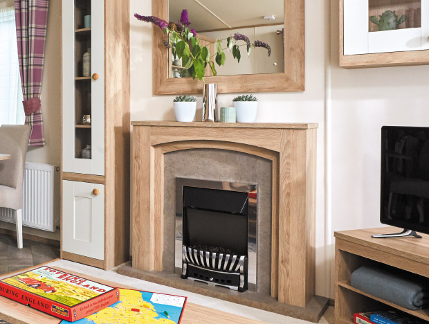 fireplace in an ABI St. David 2018 holiday home for sale